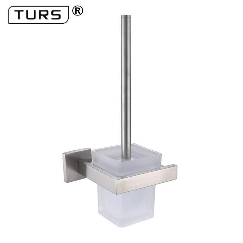 где купить SUS 304 Stainless Steel Toilet Brush Holders Bathroom Chrome Brushed Effect Toilet Brush Cup Holder Rack Bathroom Brush Shelf по лучшей цене