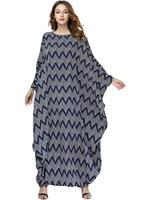 Women Knitted Loose Long Sleeve Dress Middle East Muslim Garments Party Kaftan Dresses Arabic Dresses Evening 197441