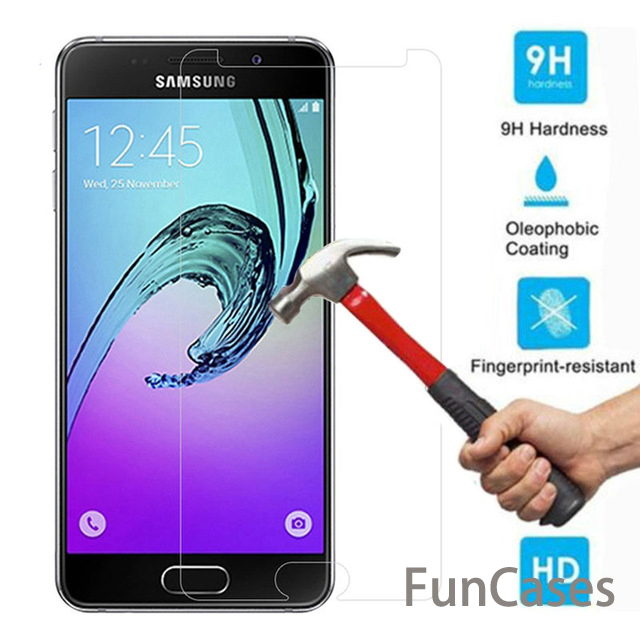 Screen Protector Tempered Glass for Samsung Galaxy A5 A7 A8+ 2018 A3 A5 A7 <font><b>2017</b></font> J1 J2 J3 J5 <font><b>J7</b></font> 2016 S3 S4 S5 S6 Note 3 4 5 Film image