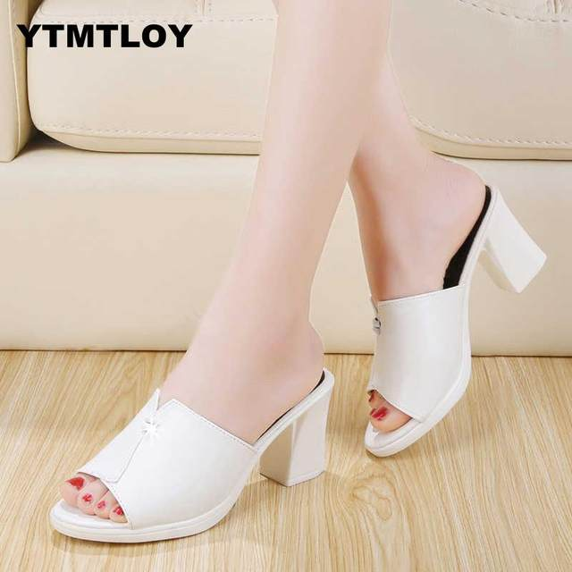 2019 HOT Women Shoes Pointed Toe Pumps Patent Leather Dress  High Heels Boat Shoes Wedding Shoes Zapatos Mujer Blue White 18