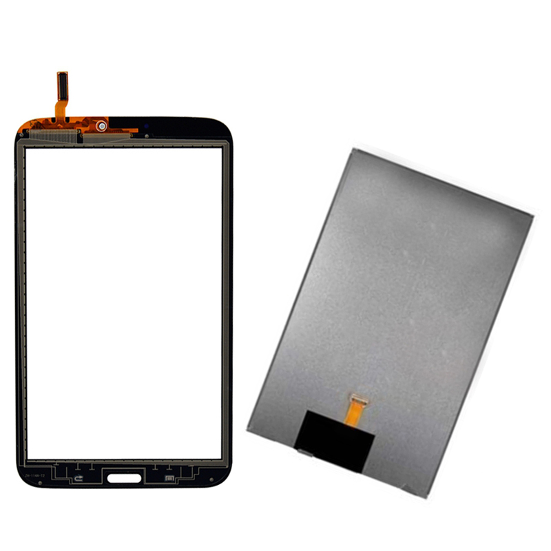 White For Samsung Galaxy Tab 3 8.0 T310 SM-T310 Touch Screen Digitizer Sensor Glass + LCD Display Screen Panel Monitor free shipping touch screen with lcd display glass panel f501407vb f501407vd for china clone s5 i9600 sm g900f g900 smartphone