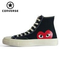 Новый Converse Оригинальные кроссовки зажимы 70 all star обувь s для мужчин's женщин унисекс Спортивная высокая классическая обувь для скейтбординга