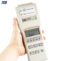 TES 32A Handheld Battery Capacity Tester Meter 0 500AH with DCV Resistance Measurement RS232