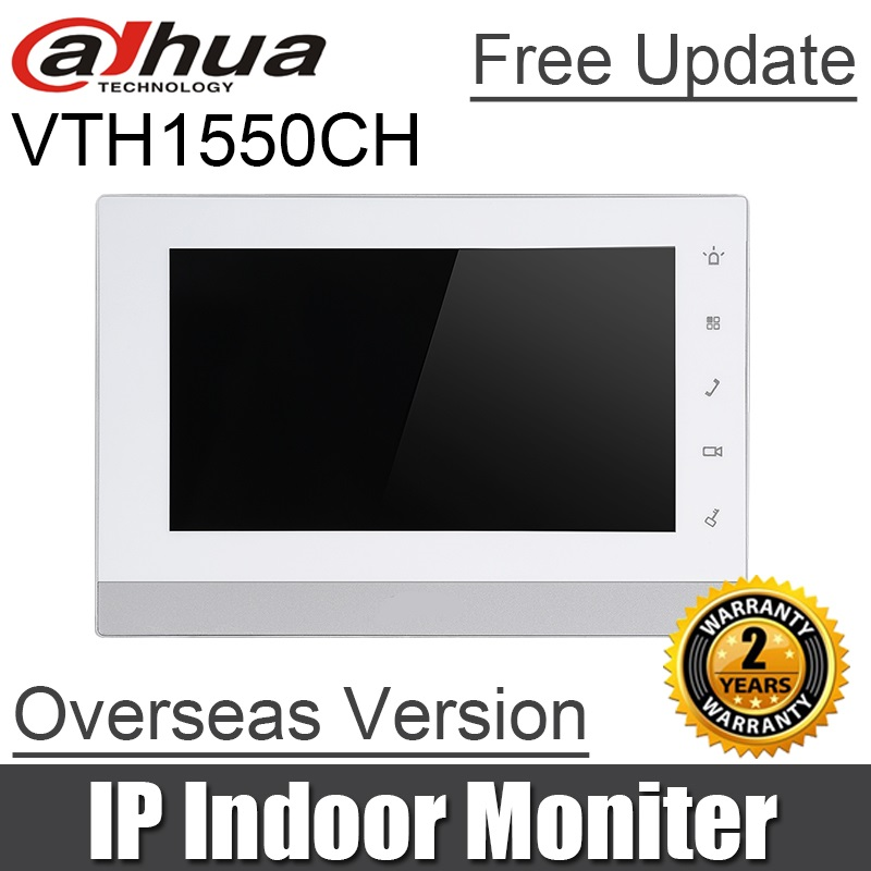 Dahua OEM VTH1550CH Indoor Monitor 7 inch 800X480 Resolution Touch Screen Color IP Video Intercom