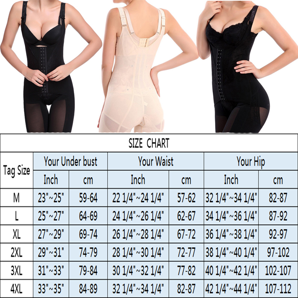 4e43c1520a8 Womens Slimming Full Body Shaper Corrective Underwear Shapewear ...
