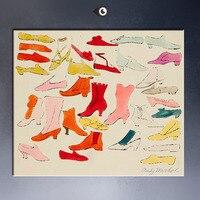 בהיר נעליים, נעל קלה, נעליים הראשונים לי שאחד שניתן לראות הלילה, 1955 על ידי אנדי וורהול פופ פוסטר הדפסת אמנות על בד לקישוט הקיר