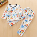 (2pcs/set)  0-3 Baby Boys Girls Warm Suits for Children Clothing Kids Fleece Thermal Underwear Thickening Velvet Baby Set