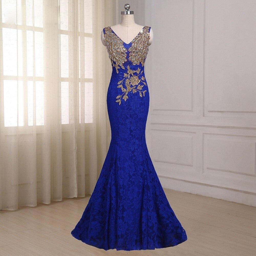 c985e19a60 Hot Sale] Real Photo Royal Blue Long Mermaid Evening Dresses 2019 ...