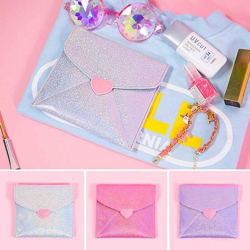 Women Sanitary Napkin Bag Female Solid