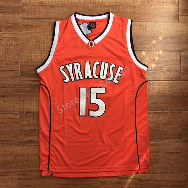 Carmelo Anthony  15 Syracuse Orangemen College Men Basketball Jersey Stiched a3b56f1bd