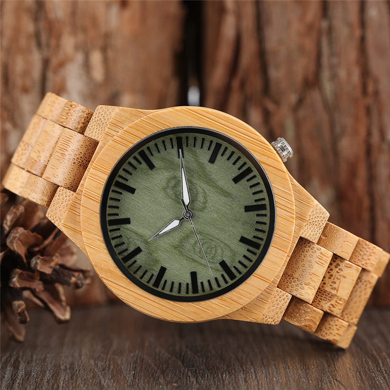 Luxury Bamboo Wooden Watches Men Full Wood Band Strap Casual Fashion - Ерлердің сағаттары - фото 2