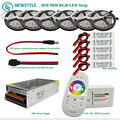 10m 30m RGB Led Strip 5050 60leds/m Waterproof IP65 tape Led Light + Touch Remote Controller + 12V Power Adapter + Amplifier