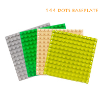 144 dots baseplate classic Bricks Big size Building Blocks children DIY Toys Assemble accessory Compatible with Duplo sets gift
