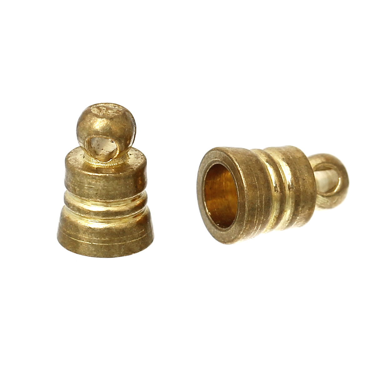 """DoreenBeads Brass Necklace Cord End Tips Cone Brass Tone Blank (Fit <font><b>2</b></font>.5mm Cord) 6mm( <font><b>2</b></font>/8"""") <font><b>x</b></font> 4mm( <font><b>1</b></font>/8""""), 100 PCs"""
