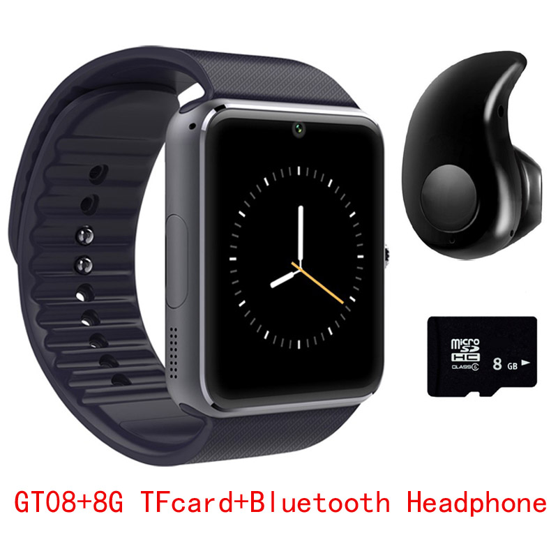 Original GT08 font b Smart b font font b Watch b font Sync Notifier Support Sim