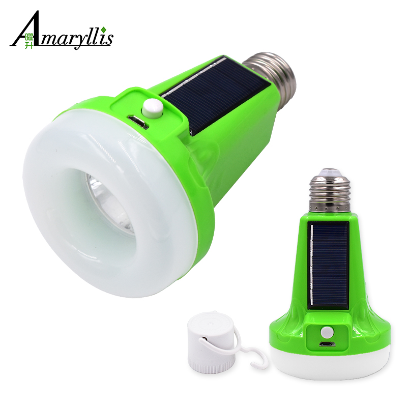 12W/18W Portable Solar Powered LED Flashlight Tent Light Bulb Rechargeable Emergency Lamp for Outdoor Indoor Multifunctional reflection