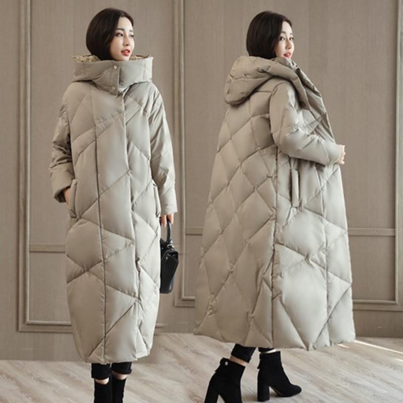 Coréenne Épais Femelle gray Vintage Taille Rembourré 2018 Femmes Plus Coton Survêtement Manteau A464 Veste La D'hiver Tops Overlength Black Vêtements OOwqdrH