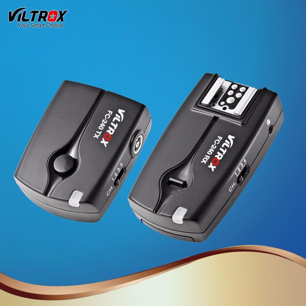 Viltrox FC-240 Control remoto inalámbrico disparador de Flash de cámara obturador para Nikon D5 D500 D810A D810 D800 D90 D7500 D5600