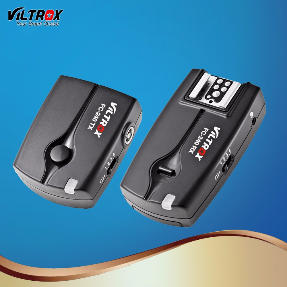 Viltrox FC-240 Wireless Remote Control Flash Trigger Camera shutter release for Nikon D5 D500 D810A D810 D800 D90 D7500 D5600