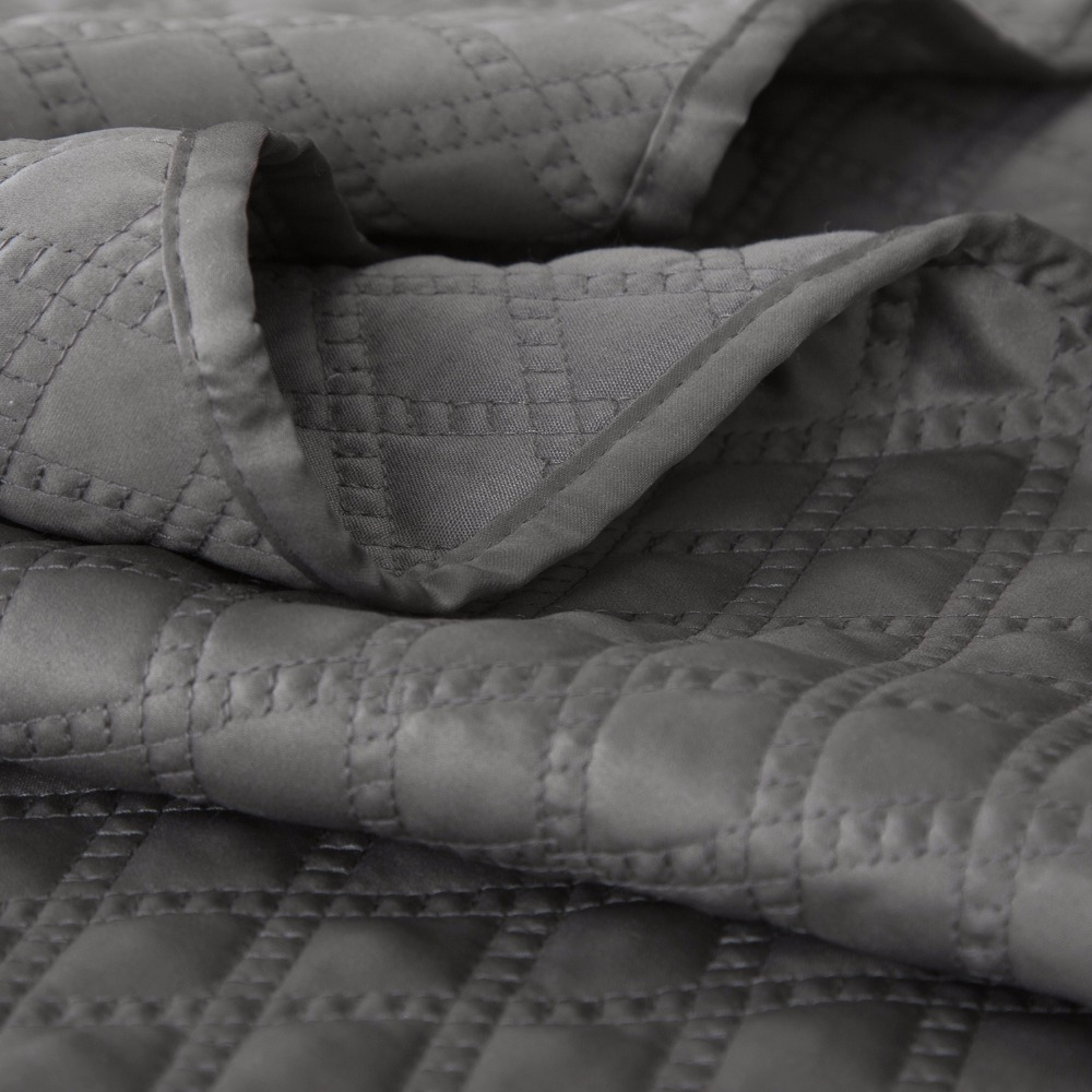 quilt com gray piece essence reza home quilted bedding set coverlet ip walmart