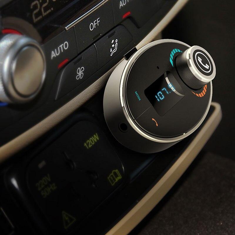 Bluetooth Transmetteur FM De Voiture Kit Adaptateur Lecteur MP3 USB Chargeur TF Carte Noir