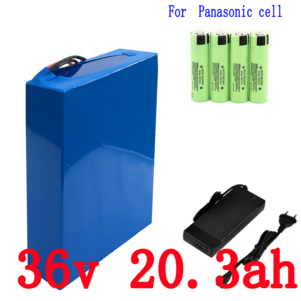 36V 21AH Bike Battery 36V 20.3AH 1000W use for Panasonic 2900mAh Cell with 2A Charger 30A BMS Lithium Battery 36v Free Shipping