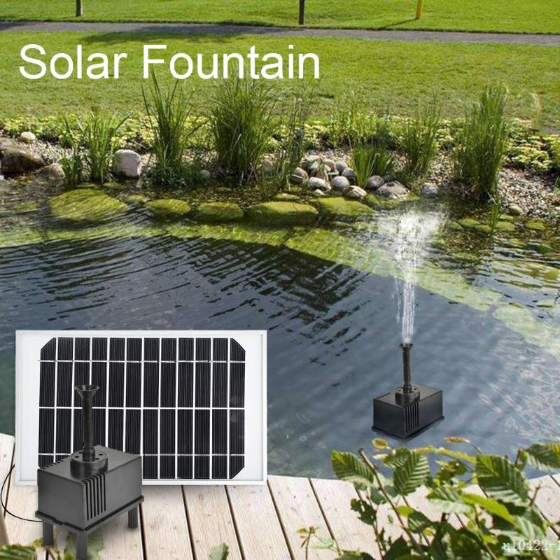 1set Hight Quality Garden Plants Sun Plants Watering Outdoor Solar Power Fountain Pool Water Pump Worldwie Selected Material Garden Supplies Watering & Irrigation