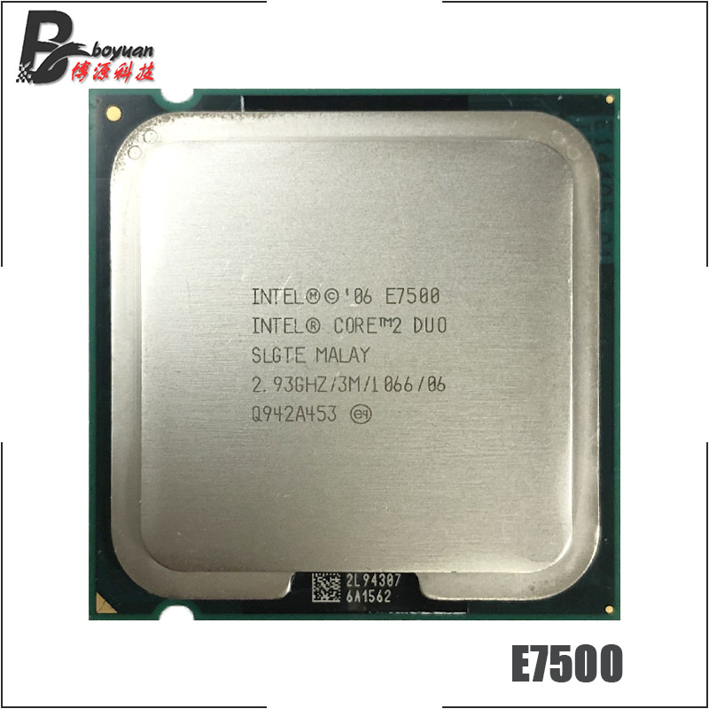 Core 2 E7500 2.93Ghz 3M//1066 Dual Core LGA775 CPU Processor SLGTE