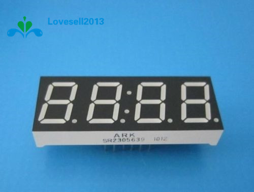 "3 PCS 0.56/"" 4 Digit Super Red LED Display Common Anode with Time Display 12P NEW"