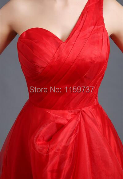 Red Organza Slim A-Line Dress