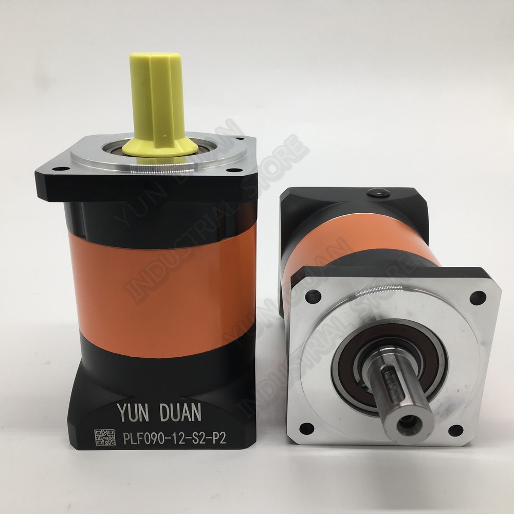 90mm Flange 12:1 -100:1 Speed Ratio Planetary Reducer 19MM 12.7MM 1/2 Input Gearbox Reducer for 750W 1 KW Servo Motor CNC90mm Flange 12:1 -100:1 Speed Ratio Planetary Reducer 19MM 12.7MM 1/2 Input Gearbox Reducer for 750W 1 KW Servo Motor CNC