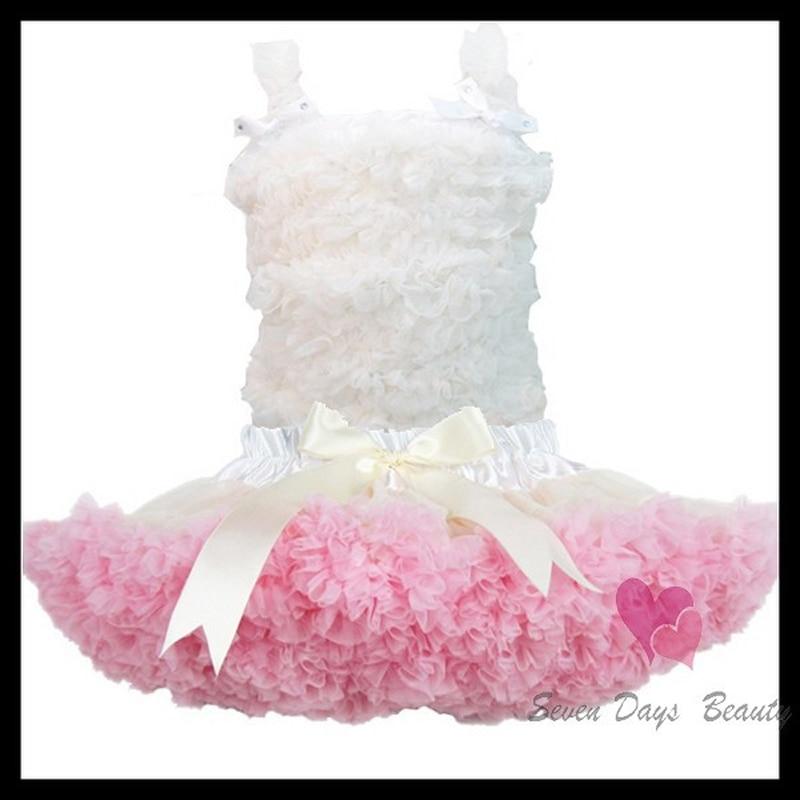 Тегін жеткізу Pure Color Baby Chiffon Ruffle көйлек - Балалар киімі - фото 6
