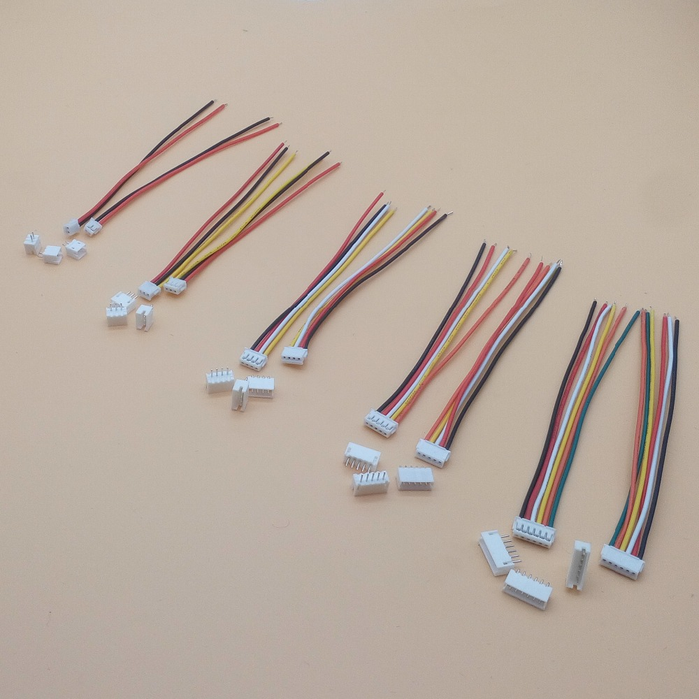 10 SETS Mini Micro ZH 1.5 2/3/4/5/6/7/8/9/10 Pin JST Connector With 100mm Length Wires Cables