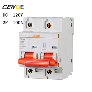 Image 2 - free shipping 2p DC120V 63A 80A 100A 125A DC circuit breaker mcb breaker for global electrically driven vehicle user 2018 newly