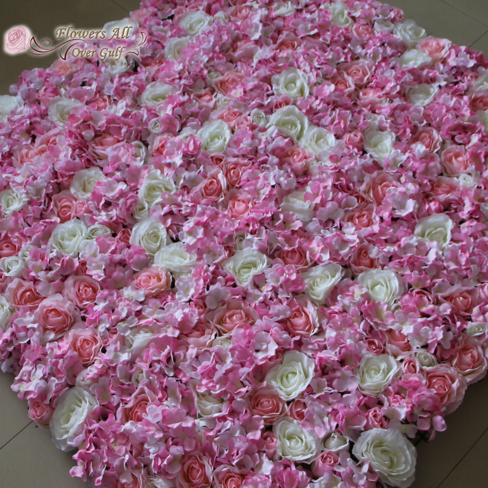 Flowers All Over Gulf Artificial Silk Rose With Pink Peony Fake