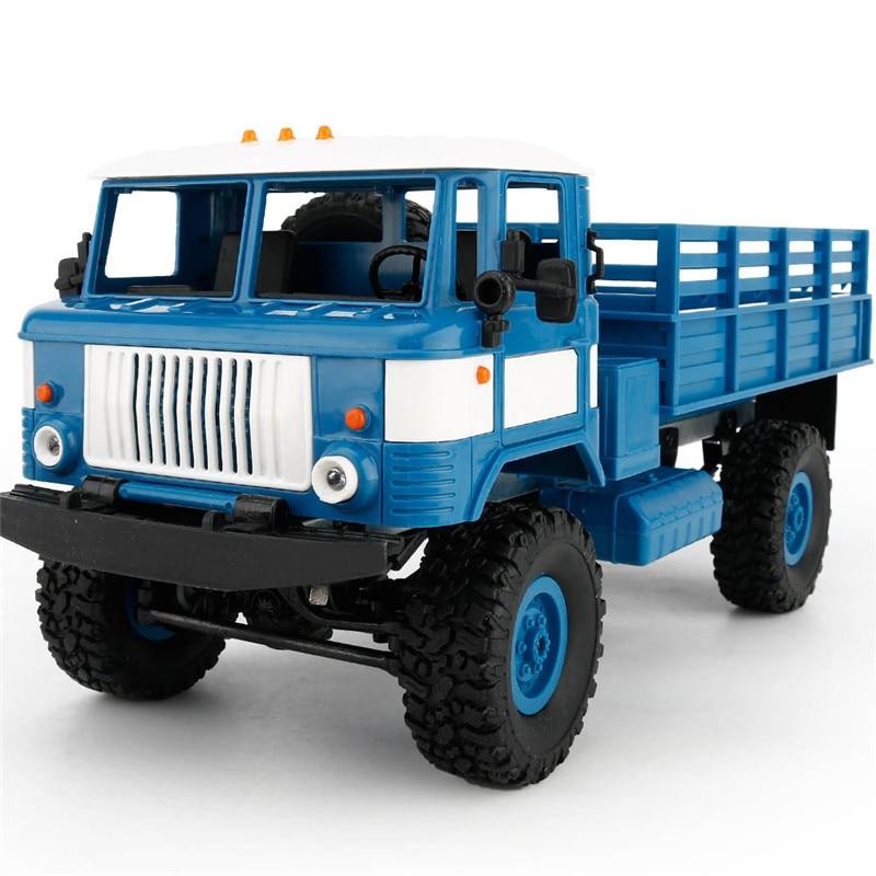 Mini 2.4g 4WD Off Road DO RC Carros de Corrida Off Road Do Carro Veículos RC RTR Brinquedos de Presente Para crianças DIY 1:16 RC Escalada Caminhão Militar - 2