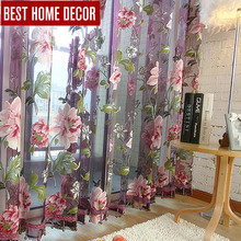 Best home decor drapes sheer window curtains for living room the bedroom kitchen modern tulle curtains window treatment blinds