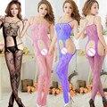 Spander Medias sexy Medias de todo el cuerpo de siembra de Las Señoras de las mujeres de moda las medias