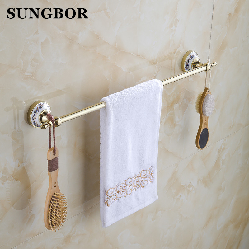 Blue and white porcelain towel rack ceramic bathroom - Bathroom towel holders accessories ...