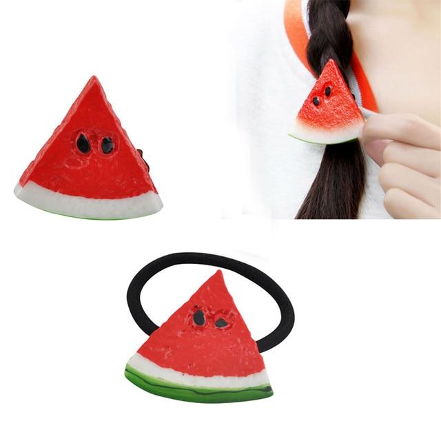 1Pc Fruit Slice Multi-Patterns Hair Accessories Girl Women Elastic Rubber Bands Hair Clips Headwear Tie Gum Holder Rope Hairpins 2