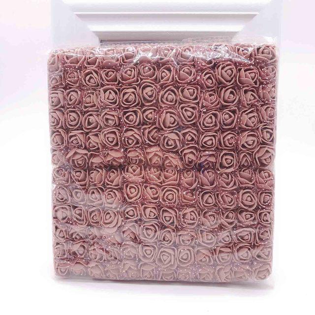 Sale!!! (144pcs/lot) 2cm head Multicolor PE Rose Foam Mini Flower Bouquet Solid Color/Scrapbooking Artificial foam Rose Flowers