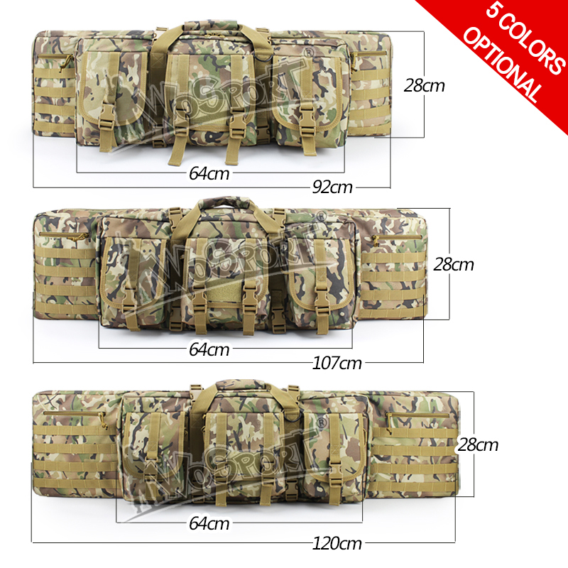 WoSporT Tactical Airsoft Paintball Functional Gun Bag Large Capacity for Rifle Hunting Shooting paintball 3 sizes camo color red safety 30mpa valve for composite compressed air cylinder for paintball airsoft gun hunting filling station