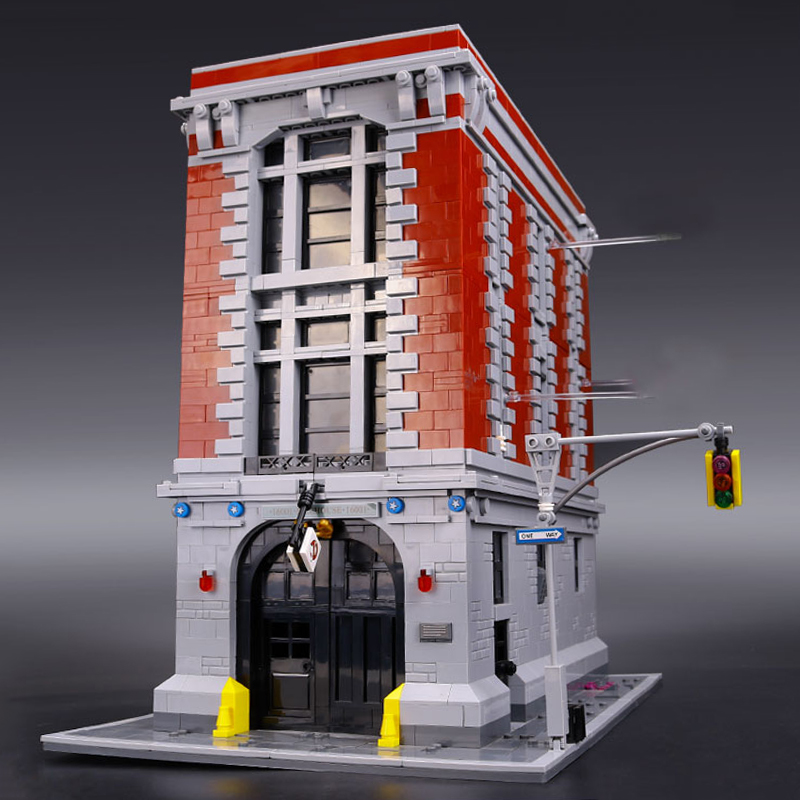 Lepin 16001 Genuine Ghostbusters Firehouse Headquarters Model LegoINGys 75827 Educational Building Bricks Kits Set for Children 4695pcs lepin 16001 city series firehouse headquarters house model building blocks compatible 75827 architecture toy to children