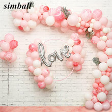10pcs Latex Balloons Rosegold Love Letter Foil Balloon Baby Pink Love Balloon Wedding Party Decoration Valentines Day Gift Decor(China)