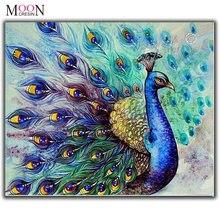 Mooncresin Алмазная Картина Вышивка крестом Павлин животное