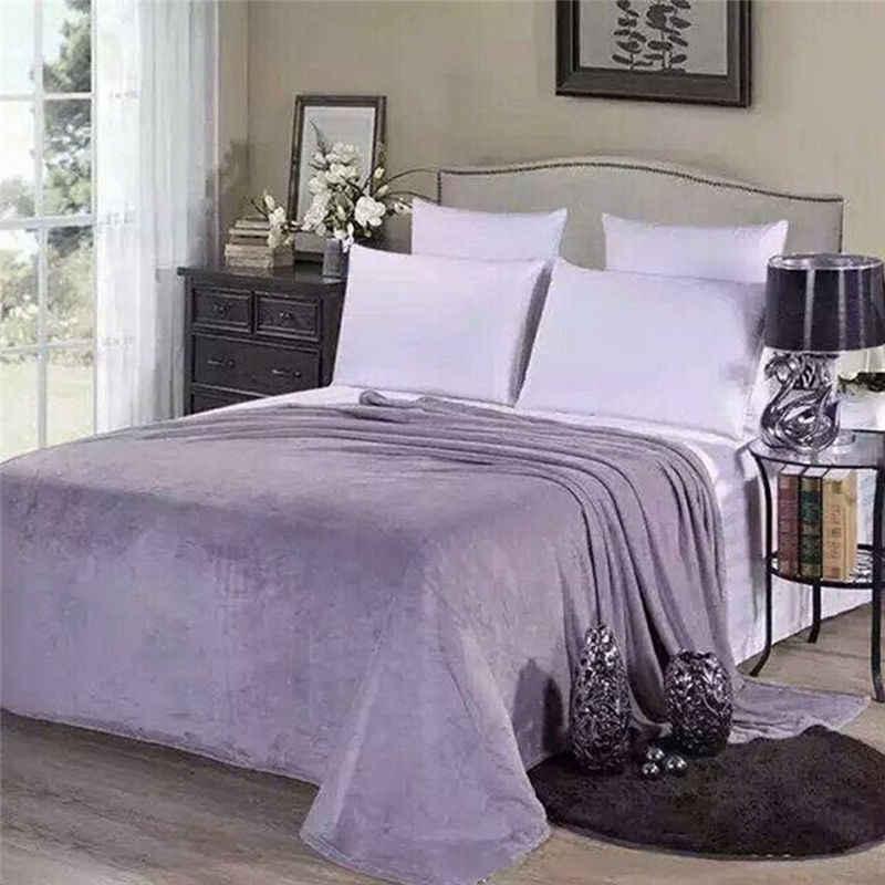 Couverture polaire lavable en Machine | 1 pièce, tissu domestique, couleur aléatoire, solide, pour lit, 50cm * 70cm