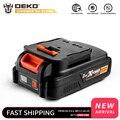 DEKO батарея 20V MAX 2000/4000mAh комплект литий-ионный батарей для GBD20DU2/GBD20DU3/GBW20DU2 Аккумуляторная дрель