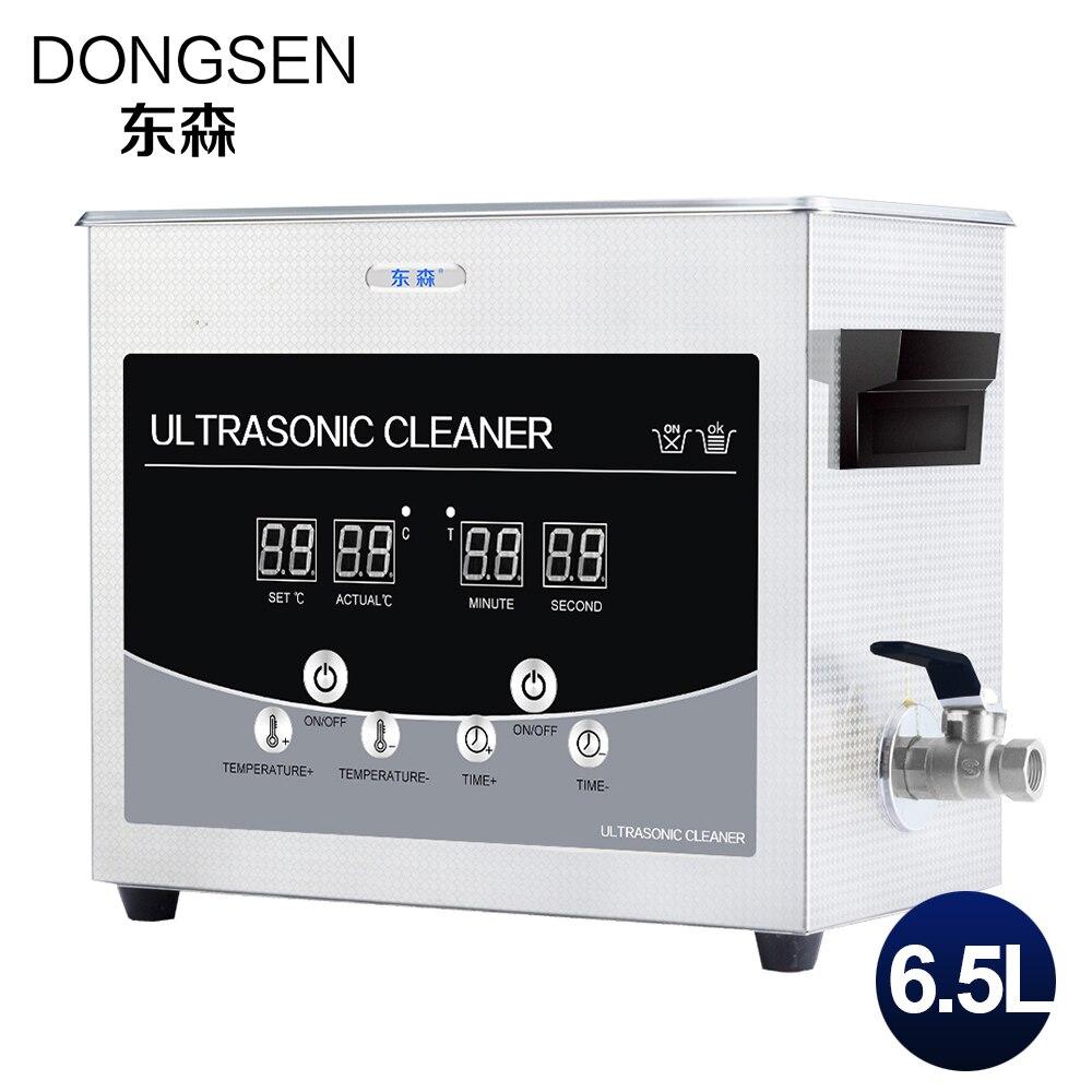 все цены на Digital Ultrasonic Cleaner Bath 6.5L Fruit Lab Equipment Metal Hardware Parts Tableware Glasses 6L Ultrasound Washing Machine онлайн