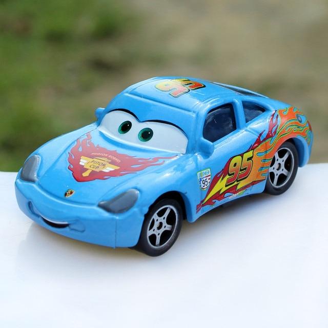 Disney Movie Pixar Cars Diecast No 95 Blue Sally Piston Cup Metal