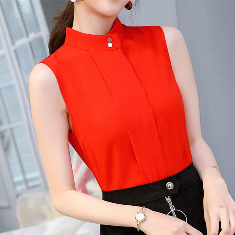 BIBOYAMALL Women   Blouses   Fashion 2018 Chiffon Women   Blouse     Shirt   Summer Short Sleeve Solid Women's Clothing Ladies Tops Blusas